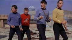 We all know what happens to the guy in the red shirt. Bones, Spock, Captain Kirk and the dead guy.