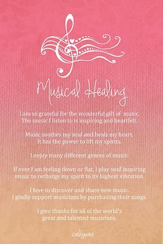 Affirmation - Musical Healing by CarlyMarie