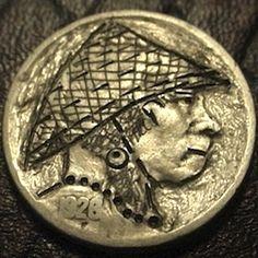 J. PRESS HOBO NICKEL - VIETNAMESE - 1926 BUFFALO PROFILE Hobo Nickel, Making Out, Buffalo, Coins, Profile, User Profile, Rooms, Water Buffalo