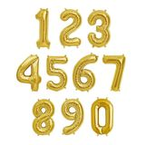 rose gold or gold letter and number ballons!