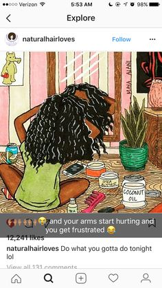❤ every natural girl goes thru this lol