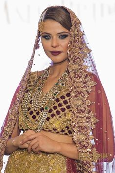 Pink & Gold Tehxeeb London bridal lengha suit-INDIAN-PAKISTANI-WEDDING-FASHION