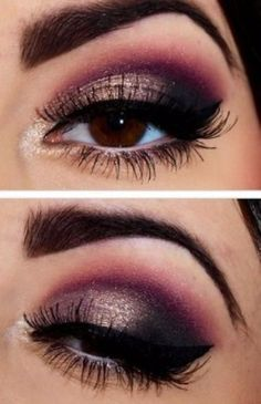 Maquillage yeux marrons