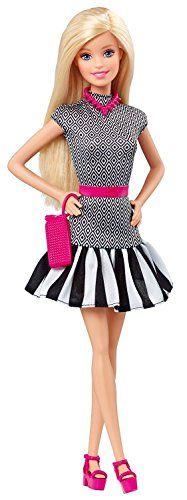 Black and White Outfit ... with PINK Accessories Barbie - Muñeca Fashionista 2 (Mattel CLN59) Barbie