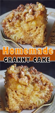 Easy Desserts, Delicious Desserts, Yummy Food, Baking Recipes, Cake Recipes, Dessert Recipes, Granny Cake Recipe, How Sweet Eats, Coffee Cake