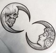 Pen and ink. Skull and life Bild Tattoos, Arm Tattoos, Flower Tattoos, Body Art Tattoos, Tattoo Arm, Blade Tattoo, Tattos, Luna Tattoo, Celtic Tattoos