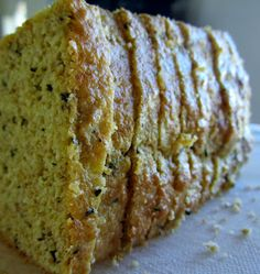 Seasoned Family Size Flax-Almond Bread ~ S {Trim Healthy Mama, GAPS, SCD, Paleo,Grain Free,Dairy Free} | Counting All Joy