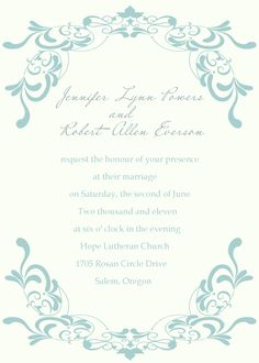 Discount simple blue damask wedding invitations EWI177 as low as $0.94