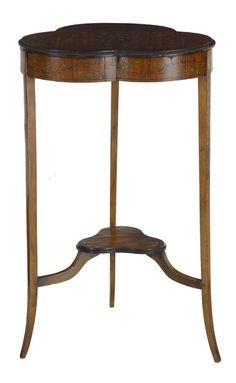 EARLY 20TH CENTURY SATINWOOD OCCASIONAL TABLE WITH PAINTED DECORATION - Debenham Antiques Ltd