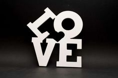 Home Decor LOVE Wall Sign Wooden Letter Craft by CraftAvenueStore