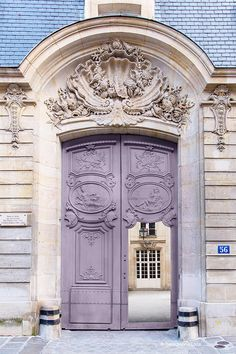 Paris Photography - Mauve Door, Architectural Photography, Travel, French Home Decor, Large Wall Art by GeorgiannaLane on Etsy https://www.etsy.com/listing/181727807/paris-photography-mauve-door