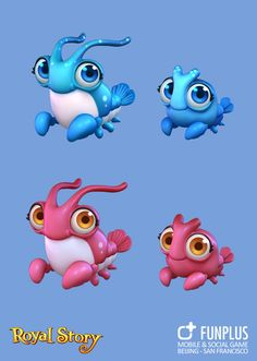 ArtStation - RS-Animals, FunPlus Game Game Icon Design, Game Character Design, Character Design References, 3d Character, Shark Drawing, Cute Octopus, Game Concept Art, Fanart, Animal Games
