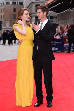 Here's a blog of this Spidey couple's (Emma Stone and Andrew Garfield) most adorable moments.. We're just making eyes at her gorgeous gown!