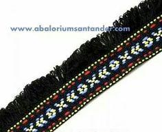 #Tapacosturas, tira #etnica con flecos negra 35mm 2'60€/m