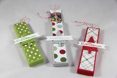 StampinFantasy: Schoko-Lolli Verpackung Advent Calendar, Stampin Up, Goodies, Gift Wrapping, Holiday Decor, Gifts, Winter, Packaging, Christmas