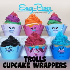 Trolls Cupcake Wrappers