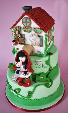 ~ sweet Little Red Riding Hood cake