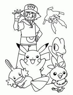 imagenes para colorear de pokemon de animales