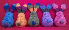 Nyuszicsapat hátulról :-) Amigurumi Toys, Knitting, Crochet, Tricot, Breien, Stricken, Ganchillo, Weaving, Knits