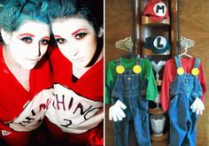 Made thing 1 and Thing 2 costumes, won the costume contest!