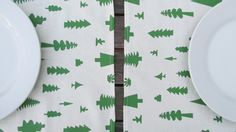 individuales estampados a mano/ hand made screen printed place mat