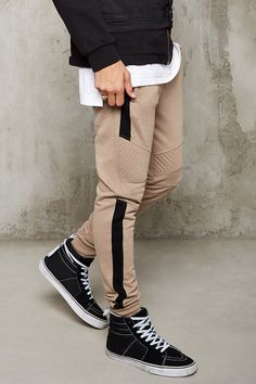 Colorblock Quilted Sweatpants