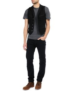 rag  bone Official Store, Knit Chamber Waistcoat, black fl, Mens : Ready to Wear : Sweaters : Waistcoats, M0006918T