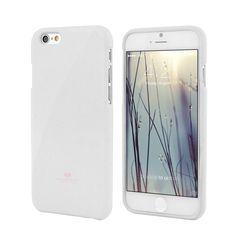 Genuine MERCURY Goospery Metallic White Soft Jelly Case Cover For iPhone 6/6s
