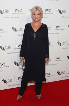 IWC Portofino Midsize watches come to London with the Timeless Portofino photography exhibition and a celebrity-packed kick-off gala dinner for the London Film Festival. Julie Walters, London Film Festival, Photography Exhibition, Best Icons, Gala Dinner, Black Tie, Dressing, Tunic Tops, Female