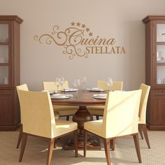 Cucina Stellata Quotes and Sayings Wall Decal Sticker Mural Art Home Decor