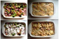 Zapiekanka makaronowa z szynką i brokułem! Pomysły na szybki obiad♥