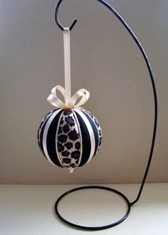 Christmas Ornament Kit Leopard Stripes Kimekomi by OrnamentDesigns