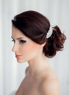 Wedding hairstyle for brown hair :: one1lady.com :: #hair #hairs #hairstyle #hairstyles