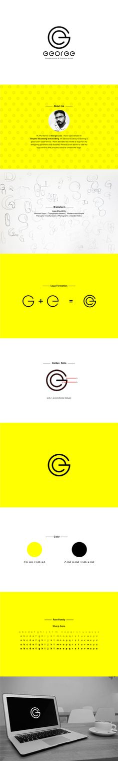 "Personal branding for the name ""George Louis"". Logo was created using first to letter of the name ""G"" and ""E"". The logo was constructed using GOLDEN RATIO. I am a graphic visualizer and doodle artist, and i always depend on simple and minimal logo. Minimal logos are the modern trend in logo and branding."