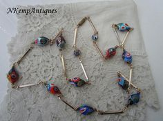 Millefiori glass necklace