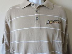 ANAHEIM DUCKS Brown Polo Shirt Hockey NHL Antigua Bruce Boudreau Size XL