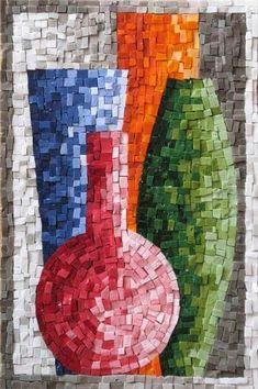Paper Mosaic, Mosaic Tile Art, Mosaic Artwork, Mosaic Crafts, Mosaic Projects, Mosaics, Paper Collage Art, Paper Art, Vitromosaico Ideas