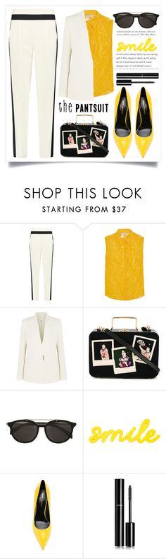 """""""The Pantsuit"""" by alaria ❤ liked on Polyvore featuring Milly, Sandro, Helmut Lang, Olympia Le-Tan, Diesel, Yves Saint Laurent, Chanel and thepantsuit"""