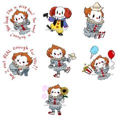 Can I offer you some tiny Pens in this time of need? does have these little guys in sticker form still. Horror Show, Horror Films, Bill Skarsgard Pennywise, Horror Villains, Pennywise The Dancing Clown, Cute Canvas Paintings, Evil Clowns, Creepy Clown, Arte Horror