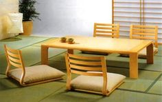 Traditional Anese Chair Dinneroom Homes Style Muromachi Period Table And Chairs
