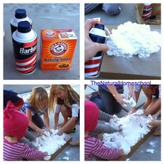 How to Make Your own Snow! Easy 2-ingredient Recipe from The Natural Homeschool