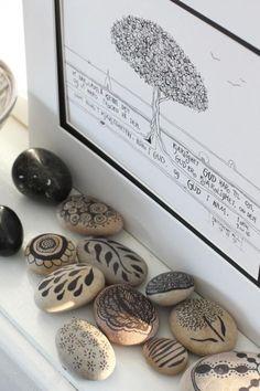 Stylizimo - Home. Decor. Inspiration. Drawing on rocks -