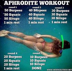 Aphrodite Workout: HIIT Training At Home! Healthy Fitness Butt