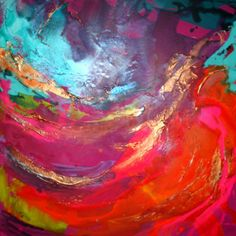 XL Original Art by Caroline Ashwood - Modern contemporary abstract painting on canvas - FREE SHIPPING. $390.00, via Etsy.