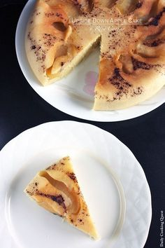 Rice cooker recipe: Upside down apple cake!  Omg, that looks so easy! A whole new world has opened. ♥