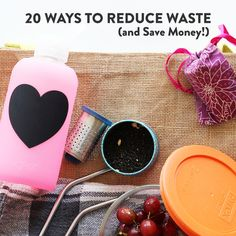 How to Reduce Waste and Save Money — Speyeral Beauty Stainless Steel Straws, Soap Dispensers, Glass Water Bottle, Reduce Waste, Water Flowers, Loose Leaf Tea, Glass Containers, Diy Cleaning Products, Bar Soap