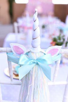 Unicorn horn + tail favors from a Pastel Unicorn Themed Birthday Party via Kara's Party Ideas | KarasPartyIdeas.com (34)