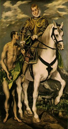 St Martin and the Beggar, by El Greco, ca. 1597-99 (National Gallery of Art, Washington)