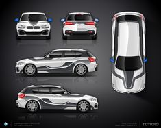 The approved part wrap design BMW 140i