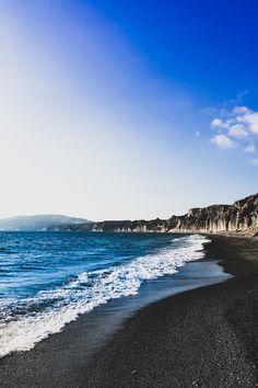 Volcano Beach, Santorini, Greece 🇬🇷